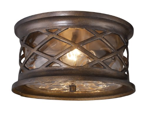 Gate Elk Barrington - Elk 42037/2 Barrington Flush Mount Hazelnut Bronze