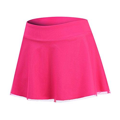 32e SANERYI Women's Dry Fit Elastic Mesh Athletic Skirt with Shorts for Tennis,Golf,Badminton,Dance,Squash