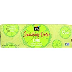 Whole Foods 365 Everyday Value, Sparkling Water Lime, 12 Count