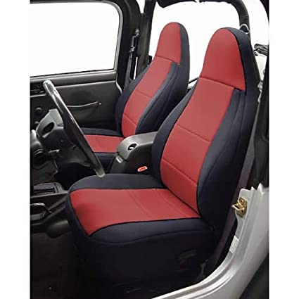 Jeep Wrangler Seat Covers >> Amazon Com Coverking Custom Fit Seat Cover For Jeep Wrangler Tj 2