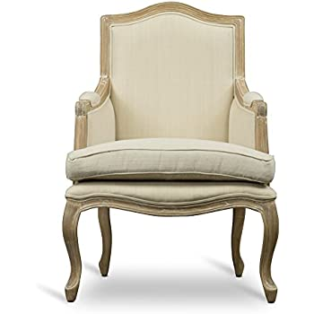 Superieur Baxton Studio Nivernais Wood Traditional French Accent Chair, Large, Brown