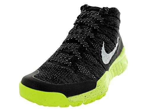 Nike Womens Flyknit Trnr Chukka Fsb Nero / Bianco / Volt Scarpa Da Allenamento 6.5 Donne Us