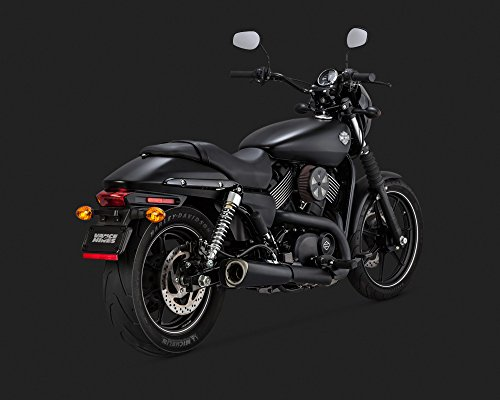 14-19 HARLEY STREET500: Vance & Hines Competition Series Slip-On Exhaust (Black) ()
