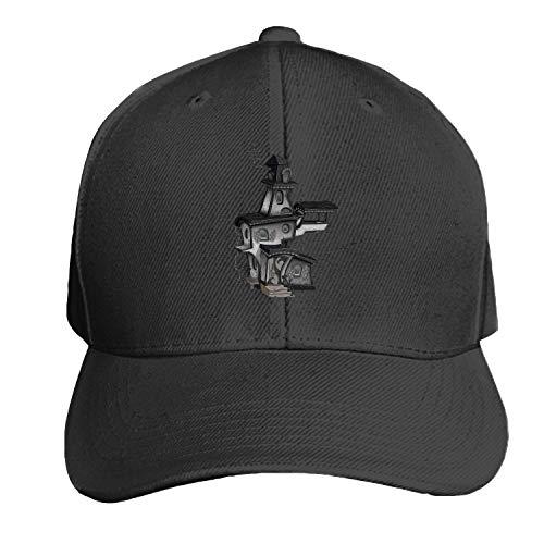 Baseball Caps, Women Men Unisex Haunted House Halloween Snapback Hats Baseball Caps]()