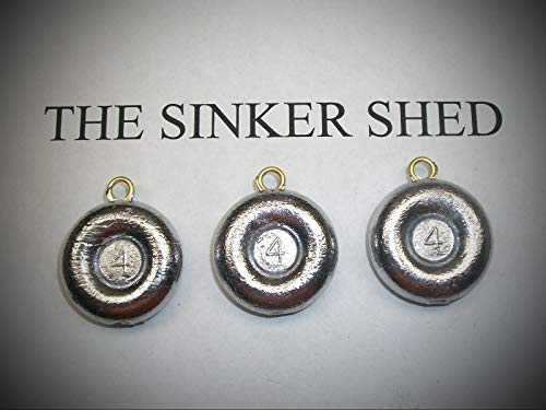 4oz River Coin Sinkers/Decoy Weight - Quantity of 12 Fishing Weights Set Sinker Supplies Gear and -