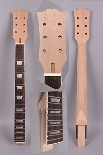 Yinfente Guitar Neck 22 fret 24.75 inch Mahogany Rosewood Fretboard Guitar Neck Replacement Set in SG (standard style)