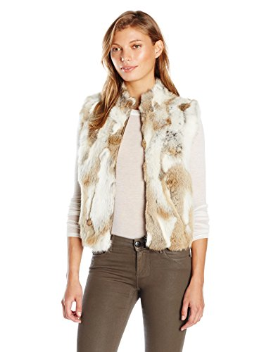 La Fiorentina Women's Spotted Fur Vest, Natural, Large/X-Large by La Fiorentina