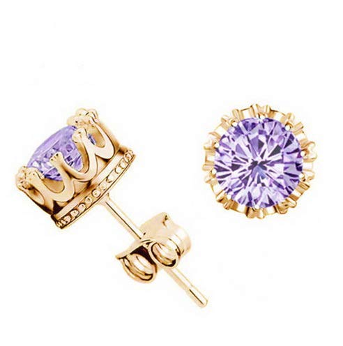 Endicot Sell Well Gold Plated Ladys Fashion Jewelry Shiny Cubic Zirconia Stud Earrings | Model ERRNGS - 17627 |