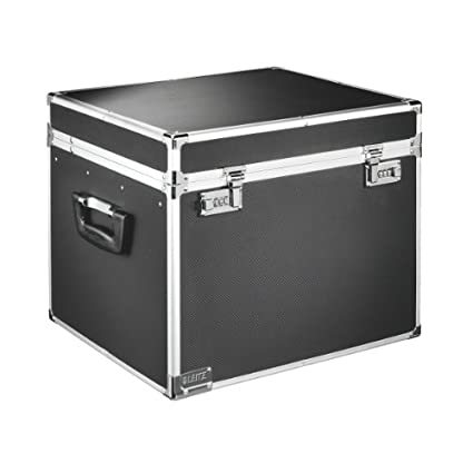 Leitz 67160095 - file storage boxes & organizers (Black, Chrome, Aluminium, Plastic, Steel, Wood, A4, 366 x 165 x 310 mm) 67160195