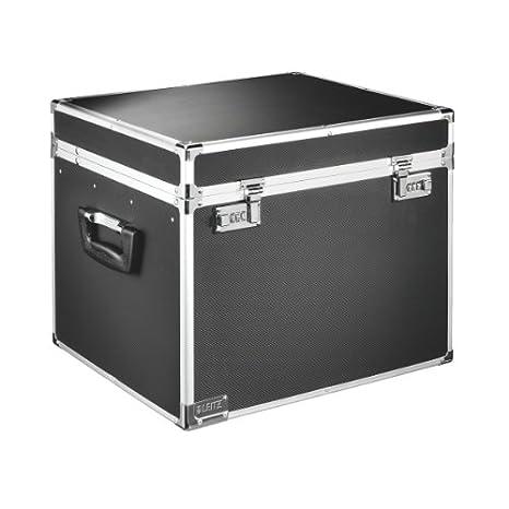 Leitz 67140095 - Cajas de almacenaje (aluminio), color negro: Amazon.es: Oficina y papelería