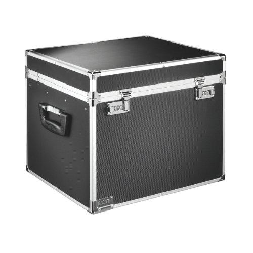 - Leitz Lockable Suspension File Chest, A4, 30 File Capacity, Colour: Black/Chrome, 67140095