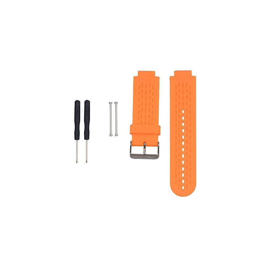 SCASTOE Sports Fitness Silicone Watch Band Strap for Garmin Vivoactive / Approach S2 S4 Orange