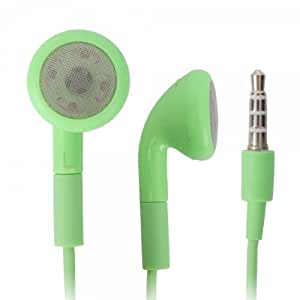 Green 3.5mm Stereo Fashion Earphone Headsets with Microphone for HTC Knight (By Things Needed)