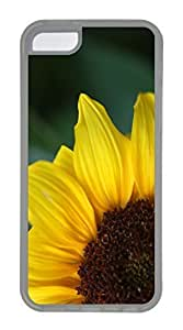 iPhone 5C Case, Customized Protective Soft TPU Clear Case for iphone 5C - Sunflower 8 Cover