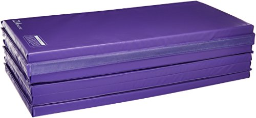 Z-Athletic Folding Panel Mats for Gymnastics (Purple, 4ft x 12ft x 2in)