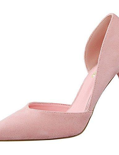 GGX/ Damen-High Heels-Kleid / Party & Festivität-Wildleder-Stöckelabsatz-Absätze / Komfort / Spitzschuh-Schwarz / Rosa / Rot / Grau / Khaki red-us5.5 / eu36 / uk3.5 / cn35