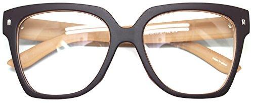 Retro Nerd Geek Oversized Eye Glasses Horn Rim Framed Clear Lens Spectacles - Eyeglass Width