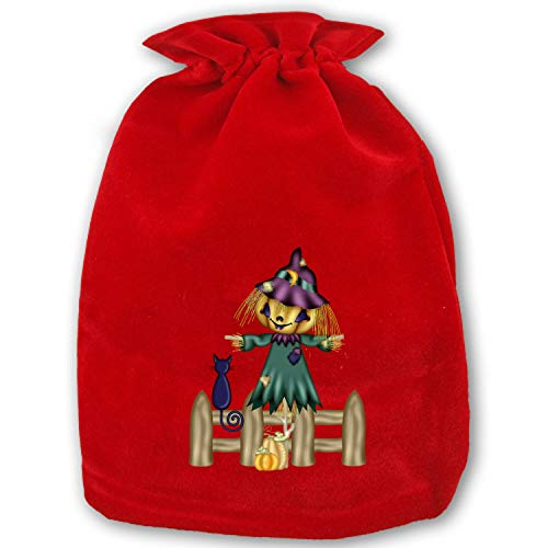 Christmas Bag Santa Sack Personalized Bag Christmas Gift Bags Drawstring Santa Sack Special Delivery Halloween Scarecrow]()