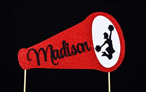 Cheerleading Megaphone Birthday Cake Topper - Personalized with