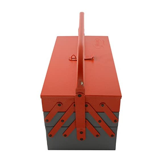 Venus VTB Metal Tool Box with 5 Compartment Box (Red) 2