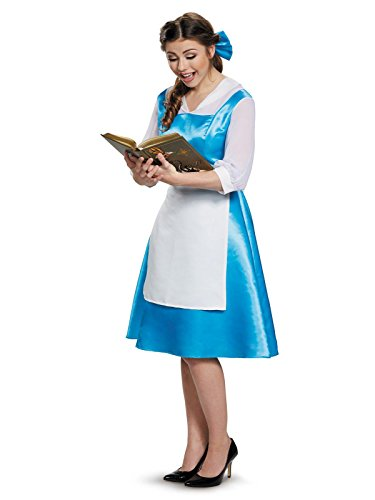 (Belle Blue Dress Adult Costume, Womens, Large)