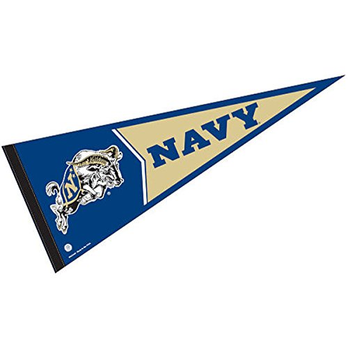 - College Flags and Banners Co. Navy Pennant Full Size Felt