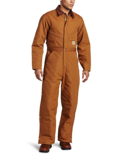 Carhartt Men's Quilt Lined Duck Coveralls,Brown,44 by Carhartt