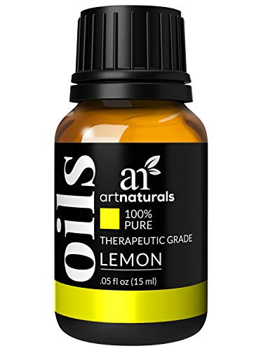 ArtNaturals 100% Lemon (Citrus Limon) Essential Oil – (.5 Fl Oz / 15ml) – Natural Undiluted Oil- Includes Our Aromatherapy Signature Zen and Chi Blends – Therapeutic Grade