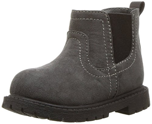 Image of carter's Boys' Cooper3 Chelsea Fashion Boot, Grey, 10 M US Toddler