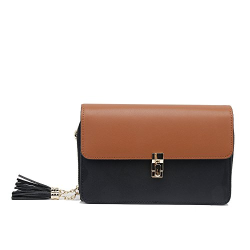 PU Doux Messenger Lock Sac Bag Yiwuhu Sac Tassel Retro bandoulière Simple Hit à Couleur wSwpxAqB0