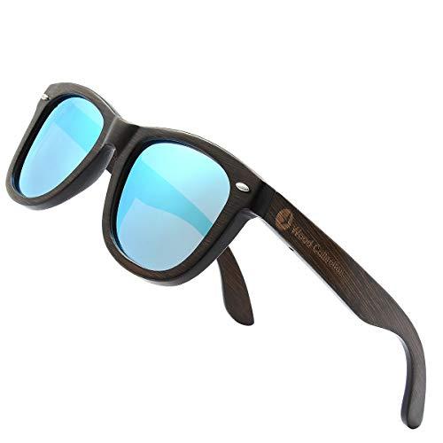 SKADINO Bamboo Sunglasses with Polarized lenses-Handmade Floating Wood Shades for Men&Women-Polished Brown - Shades Bronze Sunglass Lens