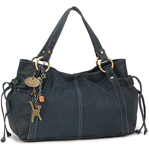 Collection Cuero Azul Catwalk Shopper Bolso Mia Estilo SqawBd6