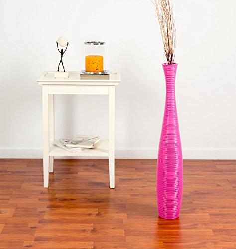 Leewadee Tall Big Floor Standing Vase for Home Decor, 5x30 inches, Wood, Pink