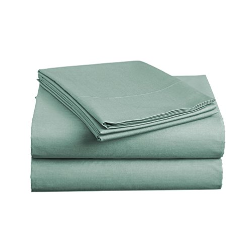 Luxe Bedding Sets - Microfiber Twin Sheet Set 3 Piece Bed Sheets, Deep Pocket Fitted Sheet, Flat Sheet, Pillow Case Twin Size - Spa Blue by Luxe Bedding (Image #2)