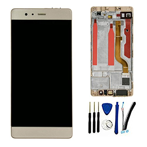 LCD + TP For Huawei P9 Standard EVA L09 EVA L19 EVA L29 Display Touch Screen digitizer glass Assembly (gold W/ Frame)