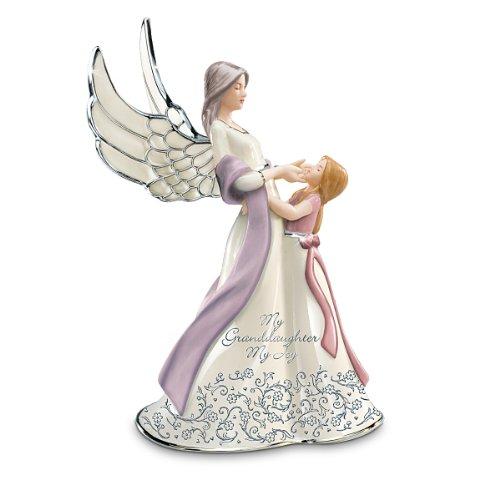 My Granddaughter, My Joy Musical Angel Figurine by The Bradford Exchange (Joy Granddaughter My My)