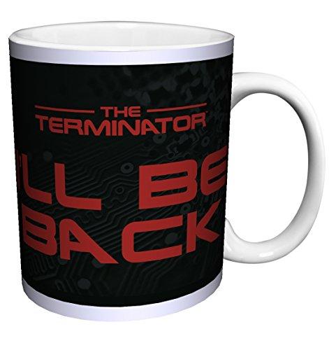 The Terminator Arnold I'll Be Back Quote Sci Fi Action Movie Film Porcelain Gift Coffee (Tea, Cocoa) 11 Oz. Mug