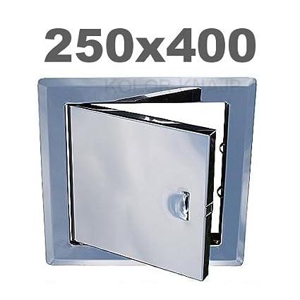 Acero Inoxidable 200 x 200 cm Awenta Tapa para revisi/ón pladur Acero Inoxidable con Marco de Montaje Acero