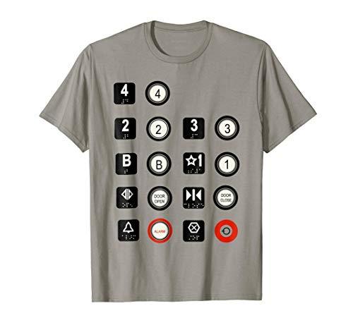 Elevator T-Shirt Elevator Buttons -