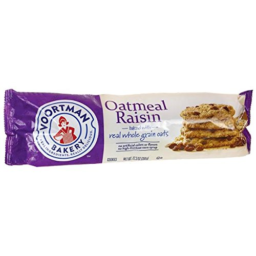 Voortman Bakery Cookies, Delicious Cookies, Pack of 4 (Oatmeal Raisin)