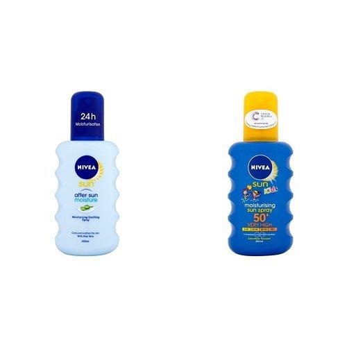 Nivea Sun Kids Moisturising Sun Spray Very High SPF 50+ - 200 ml (Blue)