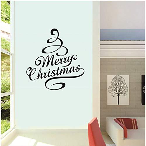 Iusun Merry Christmas Letter Tree Shape Wall Stickers DIY Mobile Creative Window -