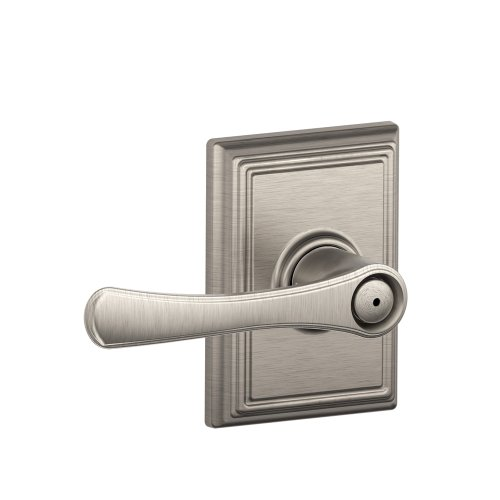(Schlage F40 VLA 619 ADD 16-080 10-027 134 N N SL Addison Collection Avila Bed and Bath Lever, Satin Nickel )