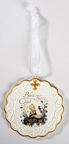 ild Baptism Porcelain Cradle Crib Medal ()