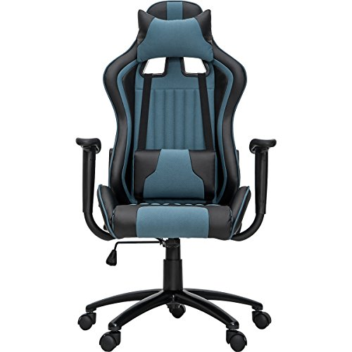 41UUP6se%2BVL - ModernLuxe-Odyssey-Series-Executive-Gaming-Chair-with-Adjustable-Lumbar-Support-and-Headrest-in-Soft-PU-Leather-and-Mesh-Fabric-Petrol-Blue