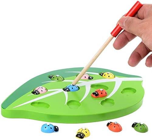 インテリジェンスおもちゃ グレートキャッチ昆虫ゲームおもちゃ子供の幼児のための木製の磁気おかしい早期教育発達のゲームセットのおもちゃ
