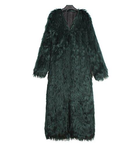 Femme Collar Fourrure Automne Casual Long V Hiver Parka YuanDian El Fausse Et Manteau En Super qgdfU