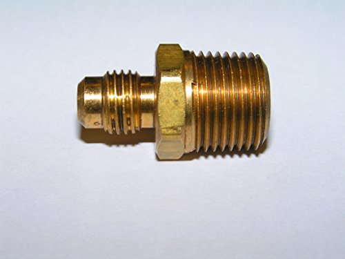 Anderson Metals Brass Tube Fitting Half Union 3 8 Flare x 3 8 Male Pipe