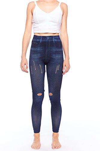 Crush Seamless Distressed Printed Leggings