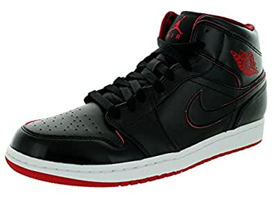 Amazon.com | Nike Jordan Men's Air Jordan 1 Mid Black